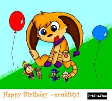 Happy B-day ecokitty by VideoGames4Life