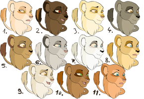 Lioness Adoptables CLOSED by ForgottenAmbers