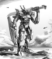 Pacific Rim fan art - Iceland Jaeger by Andromonoid