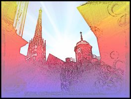 Wien Psychedelic St. Stephens Cathedral Vienna by MushroomBrain