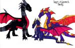 Spyro and Cynder's Family by Heios-Hobbit-Gang