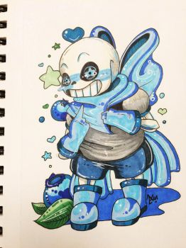Underswap Sans Badge by silvergeki