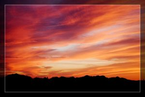Fiery Desert Skyscape by Delusionist