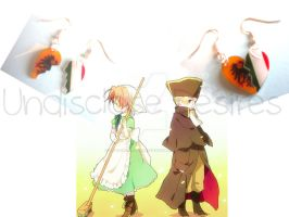 APH - HRE x Chibi Italy - Half Heart Earrings by Undisclose--Desires