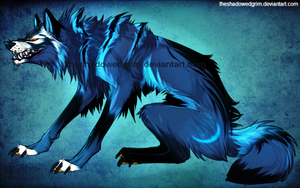 Blue wolf -closed- by TheShadowedGrim