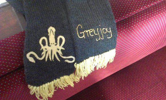 Greyjoy Scarf by themagpiesnest
