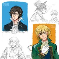Pandora hearts - Sketches by Rebe-chan-vk