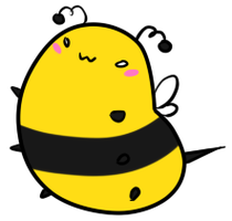 look at this bee. by tentacrab