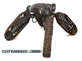 TRACKED-LEGGED COMBAT MACHINE by CUTANGUS