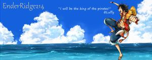 Luffy Banner for a Friend. by KomamuraV17