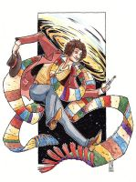 Fourth Doctor (colour) by RachelCurtis