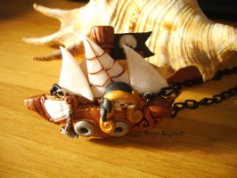 "Necklace ""Pirate Ship"" by Bojo-Bijoux"
