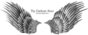 Silver Angel Wings PNG 07 by Thy-Darkest-Hour