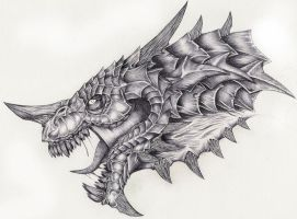 dragon head 2 by Zulfear