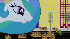 Celestia can't save the city on a Empty Stomachs by OceanRailroader