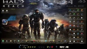 Halo Rainmeter by Udder-Juice