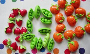 Fruits and Veggies Studs by kikums