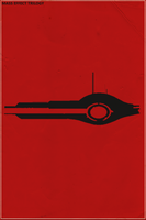 Mass Effect Trilogy Minimalist Poster by SamW1se