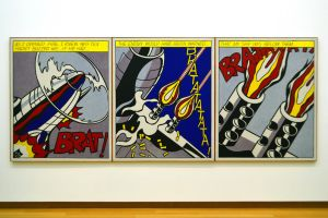 The Lichtenstein Airplane Strikes In The Stedelijk by aegiandyad