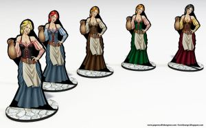 Barmaid Paper Minis by BraveSirKevin