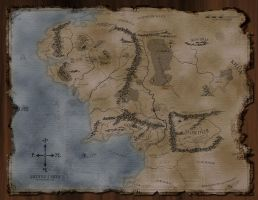 Middle Earth Map by arathael