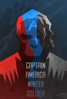 Captain america Winter soldier : Red, Blue, Black by Mushstone