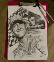 Michael Schumacher by Shanuke