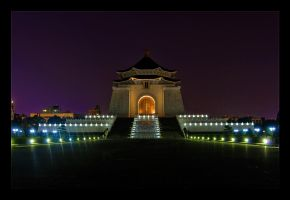 Chiang Kai-Shek Hall Night by WiDoWm4k3r