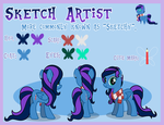 Sketchy's Reference Sheet by FillyDrawSilly