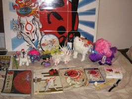 My Okami Collection update. by Skunk-Mantra