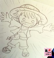 Luffy One Peice by berryjang
