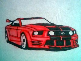 MUSTANG AIRBRUSH by javiercr69