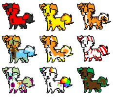 Puppy Adopts - Cheap! .::2 LEFT::. by ZombiCookie