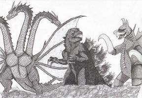 Godzilla and Friends by ScottHow