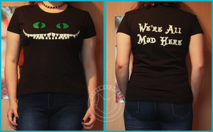 We're all mad here t-shirt by katatonia91