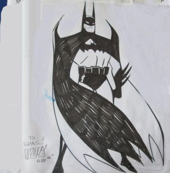 Batman by Mike Manley by VampyrNecromancer