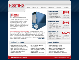 Old Hosting Design by MyRule