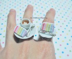 Miniature Rainbow Cake Ring by ilovelittlethings