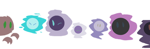 PARPG: Gastly Sizes by Maple467