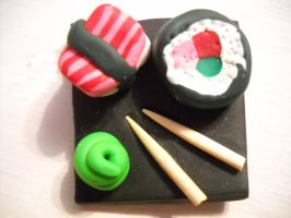 Sushi Plate by CarolyntheMouse