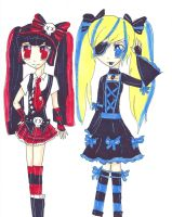 Punk and gothic lolita by scarletangel2