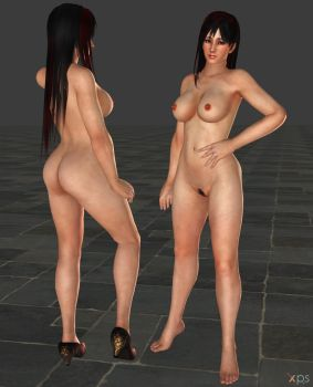 Miyako nuda long hair 2 - attach hair by Toshiie1