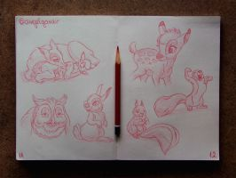 Animation Sketches - Bambi by AngelGanev