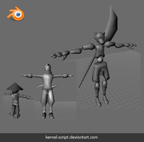 Three Blender models by kErNeL-sCrIpT