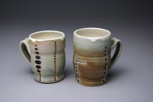 Green mugs by sonkette