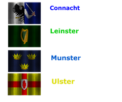 Flags of Irish Provinces by Siontix