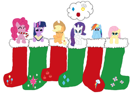 Main cast Christmas Stocking by Yin-Yang-MLP