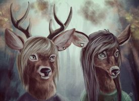 deer by Ginseng-fox