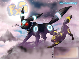 Shiny Umbreon and son by Morrissex