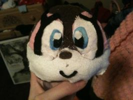 Sonic Sewing Project Part 2: The head by HamtaroDramaClass